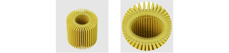 Oil filter element of flexible rubber ring