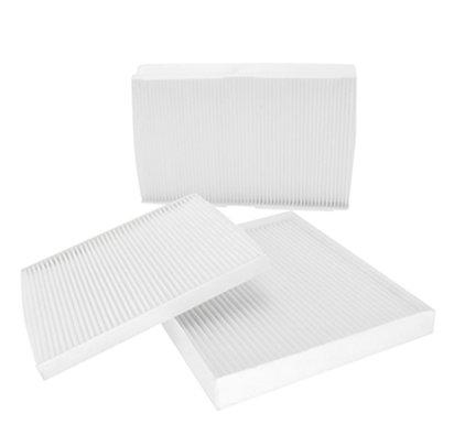 White synthetic fiber pollen filter